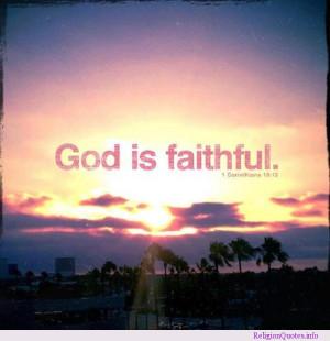 God is always faithful!