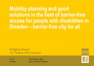 Mobility Planning and Barrier-Free Access for People with Disabilities ...