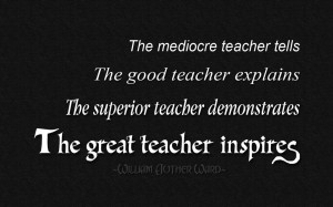 Quotes For Teachers The Great Teacher Inspires