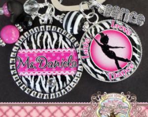 ... DANCE, Zebra Print Thank You Gift, Teacher Appreciation, Dance Recital