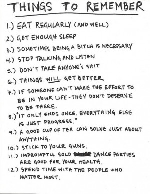 things to live by