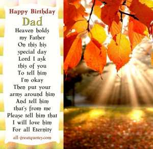 Free Birthday Cards For Dad In Heaven – Happy Birthday Dad In Heaven