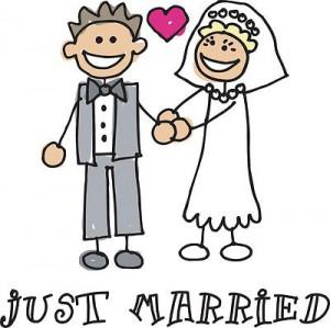 just married t shirt gifts just married honeymoon brn brn newlywed ...
