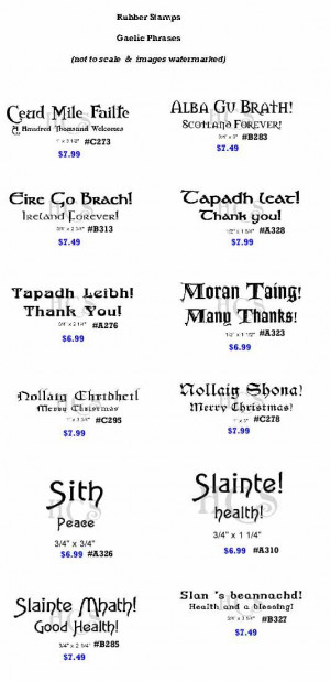 RubberStamps - Gaelic Phrases