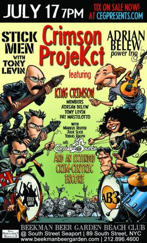 ... Belew, Tony Levin and Pat Mastelotto Confirm 'Crimson ProjeKct