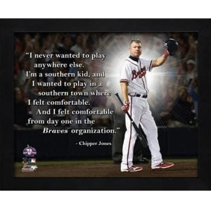 chipper jones atlanta braves framed 11x14 pro quote available from ...