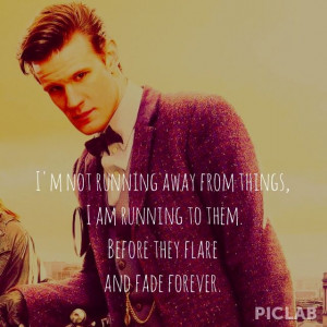 Matt Smith Doctor Who 11th | I'm not running away from things, I am ...