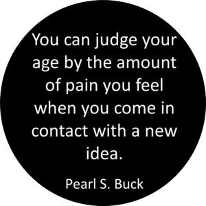 ... you feel when you come in contact with a new idea.