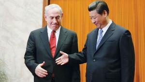 Put it there. Benjamin Netanyahu and Xi Jinping, theChinese President ...