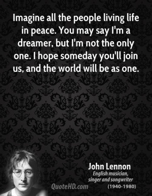 John Lennon Imagine All The