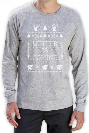 ... Coming Ugly Christmas Sweater Long Sleeve T-Shirt GOT Dragons Thrones