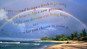 inspirational thought-every day holds a new promise