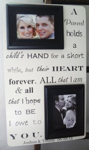 PARENT(S) of Bride Groom 13x22 Wedding Frame Gift for Parents Mom Dad ...