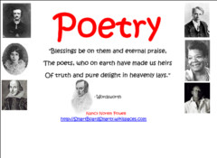 Poetry - characteristics of poetry, quotes form famous poets, types of ...