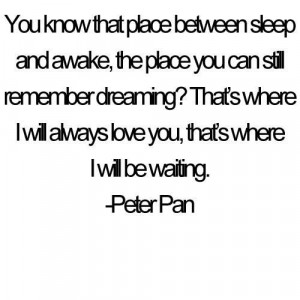 ... peter pan quote on mywall…everything he says is bittersweet D