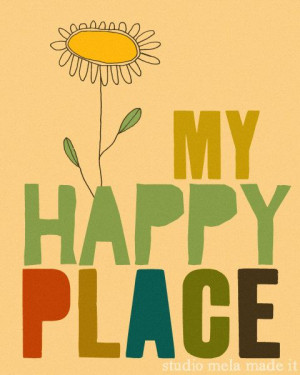 ... library be happy vintage art quote art my happy place $ 20 00 via etsy