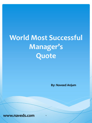 World Most Successful Manager Quote