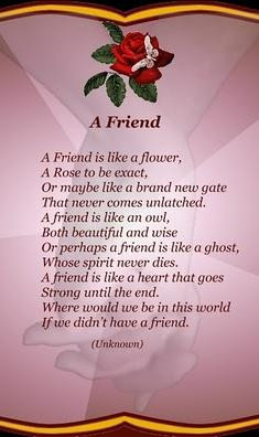 Friendship Day Famous Poems