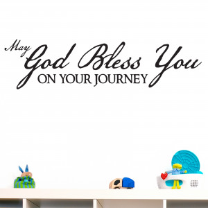 May God Bless You Religious Quote Wall Sticker 1