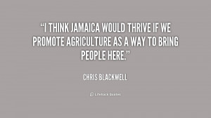 think Jamaica would thrive if we promote agriculture as a way to ...