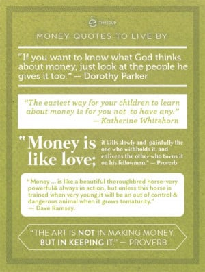 thredUP - Money Quotes to Live By