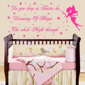Fairies Quote Wall Art Sticker (Fairies Quote)