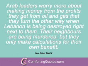 Sayings By Abu Bakar Bashir
