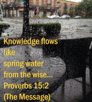 Proverbs 15:2 #scripturequotes #wisdom #truth #thelifewarrior