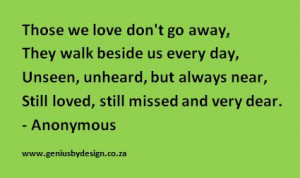 loved one passed Away Quotes | QuotesAbout Missing Someone Who Died ...