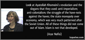 Khomeini's revolution and the slogans that they used: anti-imperialism ...