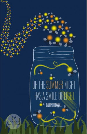 Fireflies Quote Print