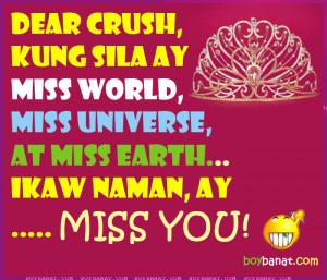 tagalog quotes patama sa crush quotesgram