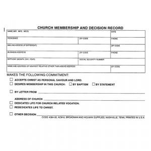 church membership data form