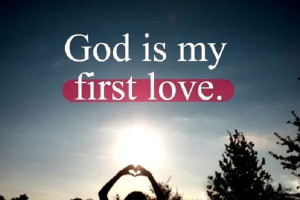 Pass this on if you're first love is God!