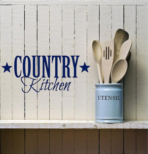 Country Kitchen - Vinyl decal-Vinyl Lettering wall words graphics Home ...