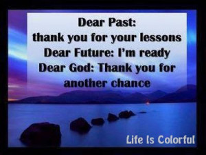 Dear Past: Thank you for your LESSONS