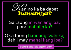 Tagalog Quotes Patama Sa Ex Sa taong iniwan ang iba para