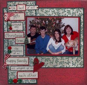 Family Christmas Quote Scrapbook Page by Brenda Becknell