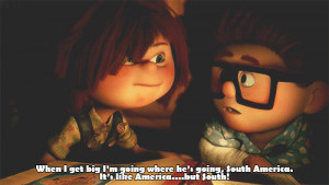 Carl and Ellie from the movie Up
