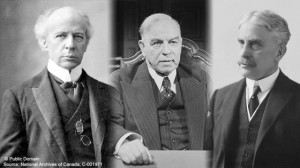 Wilfrid Laurier, William Lyon Mackenzie King and Robert Borden