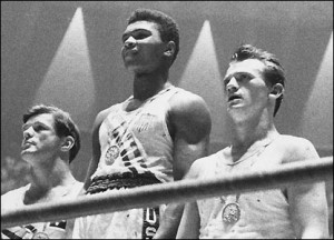 ... onto the world stage by winning a gold medal at the 1960 Olympics