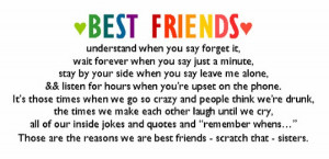 Best Friends Understand When You Say Forget It - Friendship Quote