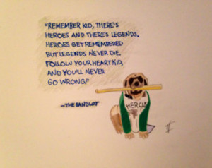 The Sandlot Quote Drawing