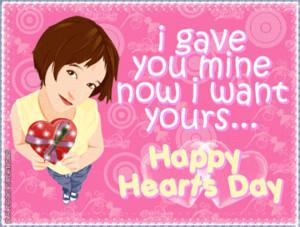 Happy Hearts Valentine Day Quote