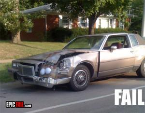 car repair fail headlight