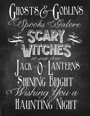 Fall and Halloween Chalkboard Quote Printables
