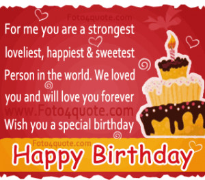 Free birthday quotes and ecards - For me you are a strongest ...