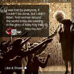 Mary Kay Ash, amazing woman. More