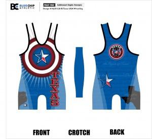 Texas Usa Wrestling Singlet...