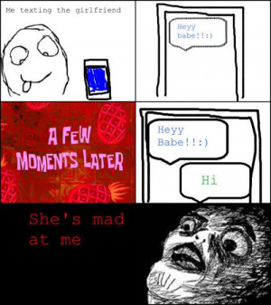 Let me Texting my Girlfriend ... xD